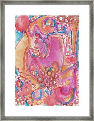 Hot Pink Abstract Framed Print