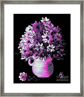 Hot Pink Flowers Framed Print