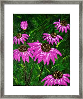 Hot Pink Jungle Framed Print by Celeste Manning