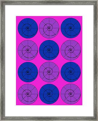Hot Pink Orb Circle Bubble Pop A La After Warhol Framed Print