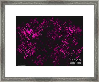 Hot Pink Ripples Framed Print by Anita Lewis