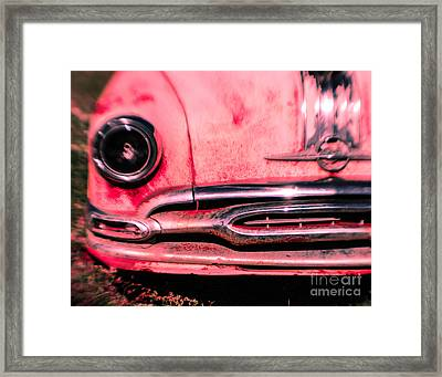 Hot Pink Wreck Framed Print by Sonja Quintero
