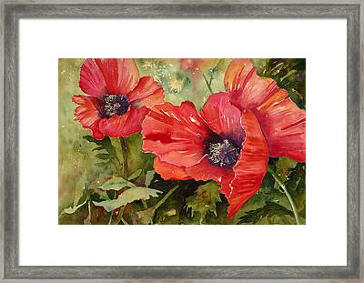 Hot Poppers Framed Print by Renee Chastant