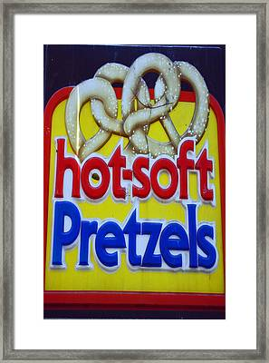 Hot Pretzels Framed Print