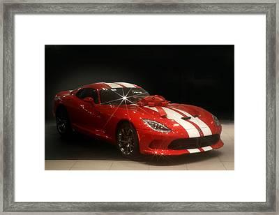 Hot Red Viper For Christmas Framed Print