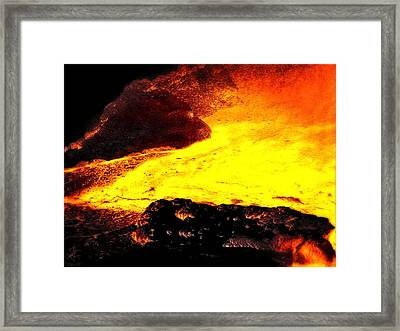Hot Rock And Lava Framed Print