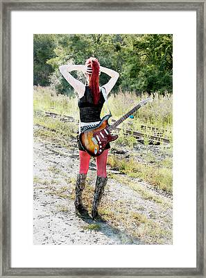 Hot Rocker Framed Print