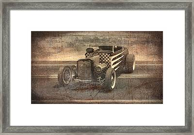 Hot Rod 3 Framed Print by Joshua Fowler