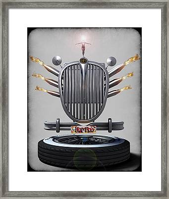 Hot Rod Crest Framed Print by Frederico Borges