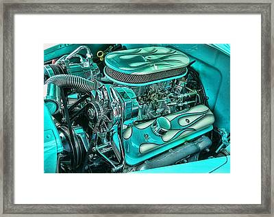 Framed Print featuring the photograph Hot Rod Engine by Victor Montgomery