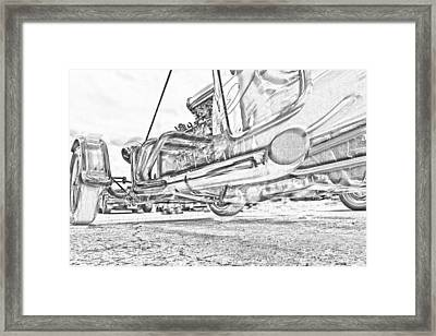 Hot Rod Exhausting Framed Print