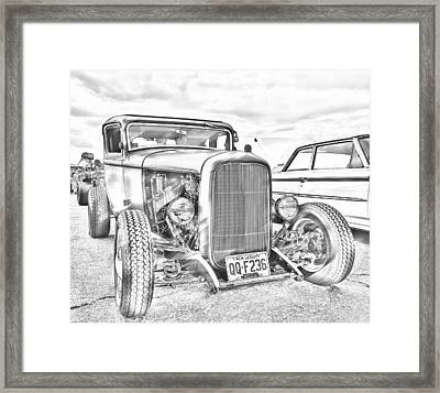 Hot Rod Faux Sketch Framed Print