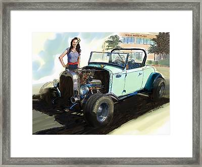 Hot Rod Ford Framed Print by RG McMahon