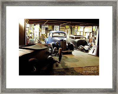 Hot Rod Garage Framed Print