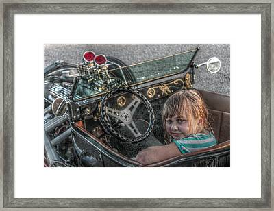 Hot Rod Girl Framed Print by Howard Markel