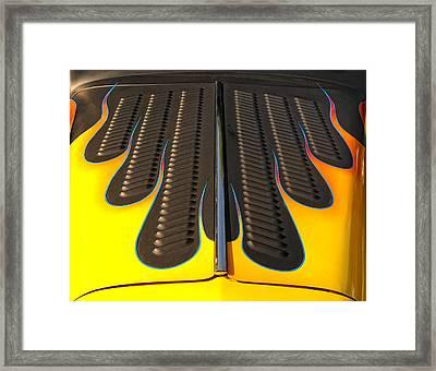 Hot Rod Hood Framed Print by Dick Wood