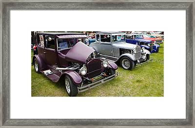 Framed Print featuring the photograph Hot Rod Lineup by Mick Flynn