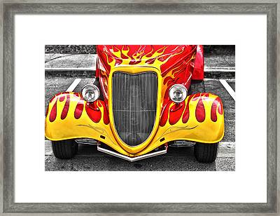Framed Print featuring the photograph Hot Rod by Matthew Ahola