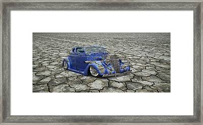 Hot Rod Mirage Framed Print by Steve McKinzie
