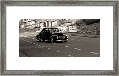 Hot Rod On The Street Framed Print by Dan Sproul