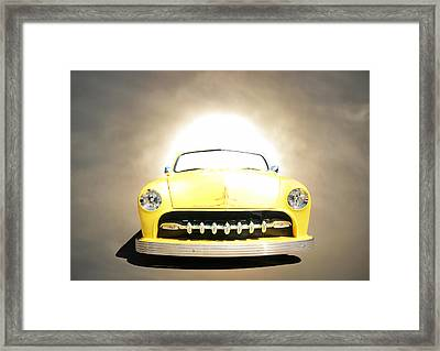 Hot Rod Sun Framed Print by Steve McKinzie