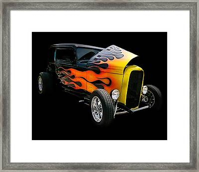 Framed Print featuring the photograph Hot Rod by Victor Montgomery