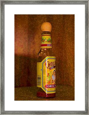 Hot Sauce Two Framed Print by Cathy Anderson