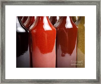 Hot Sauces Framed Print