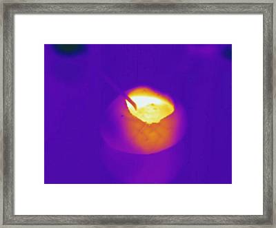 Hot Soup, Thermogram Framed Print by Science Stock Photography