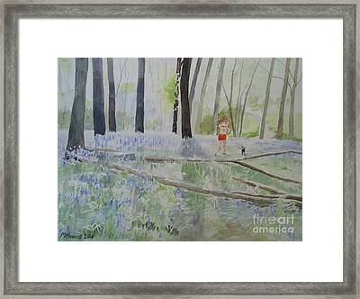 Hot Spring Bluebell Jogger Framed Print