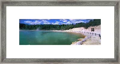 Hot Spring, Champagne Pool, Waiotapu Framed Print by Panoramic Images