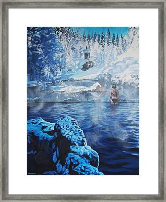 Hot Spring Framed Print by Tommy Midyette