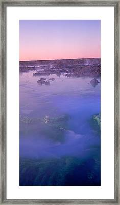 Hot Springs In A Lake, Blue Lagoon Framed Print by Panoramic Images