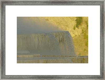 Hot Springs In Yellowstone Framed Print by Jeff Swan