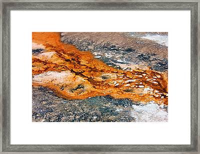 Hot Springs Mineral Flow Framed Print