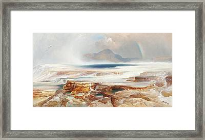 Hot Springs Of Yellowstone Framed Print by Thomas Moran