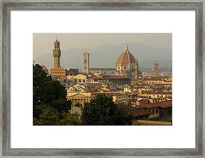 Hot Summer Afternoon In Florence Italy Framed Print by Georgia Mizuleva