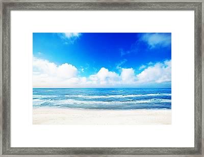 Hot Summer Beach Framed Print by Michal Bednarek