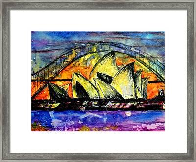 Hot Sydney Night Framed Print