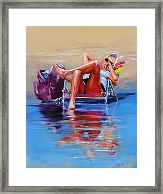 Hot Topic Two Framed Print by Laura Lee Zanghetti