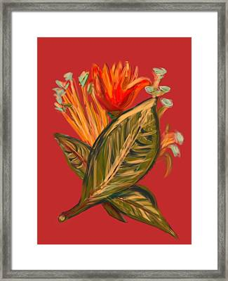 Framed Print featuring the digital art Hot Tulip R by Christine Fournier