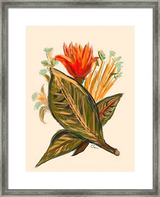 Framed Print featuring the digital art Hot Tulip Spring by Christine Fournier