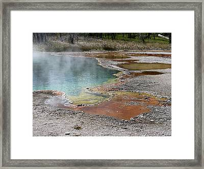 Framed Print featuring the photograph Hot Water At Yellowstone by Laurel Powell