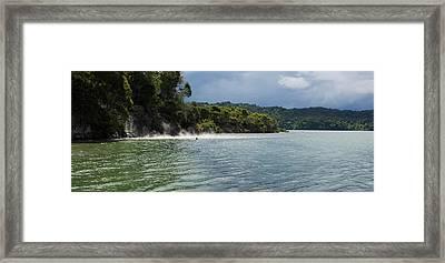 Hot Water Beach On The Lake Tarawera Framed Print