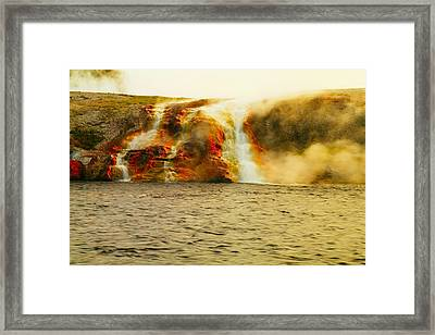 Hot Water Pouring Framed Print by Jeff Swan