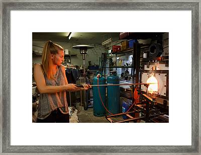 Hot Work Framed Print by Paul Indigo