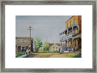 Hotel A Charles Ouellette Thurso  Quebec Circa 1897 Framed Print by Lise PICHE