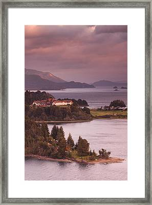 Hotel At The Lakeside, Llao Llao Hotel Framed Print by Panoramic Images