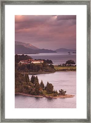 Hotel At The Lakeside, Llao Llao Hotel Framed Print