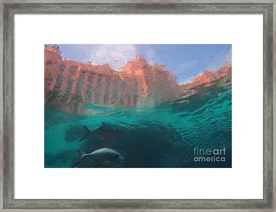 Hotel Atlantis From Underwater Framed Print